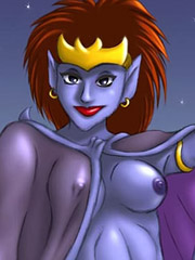 Demona gets slammed by Beth Maza's cock and comes